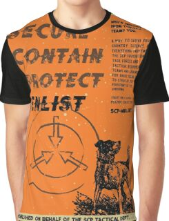 Vintage SCP Containment Team Recruitment  Graphic T-Shirt