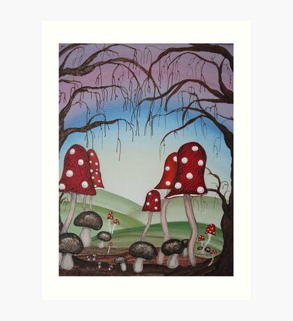 Mystical Mushrooms Art Print