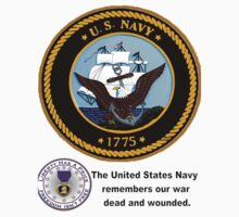The Navy Remembers Its War Dead One Piece - Short Sleeve