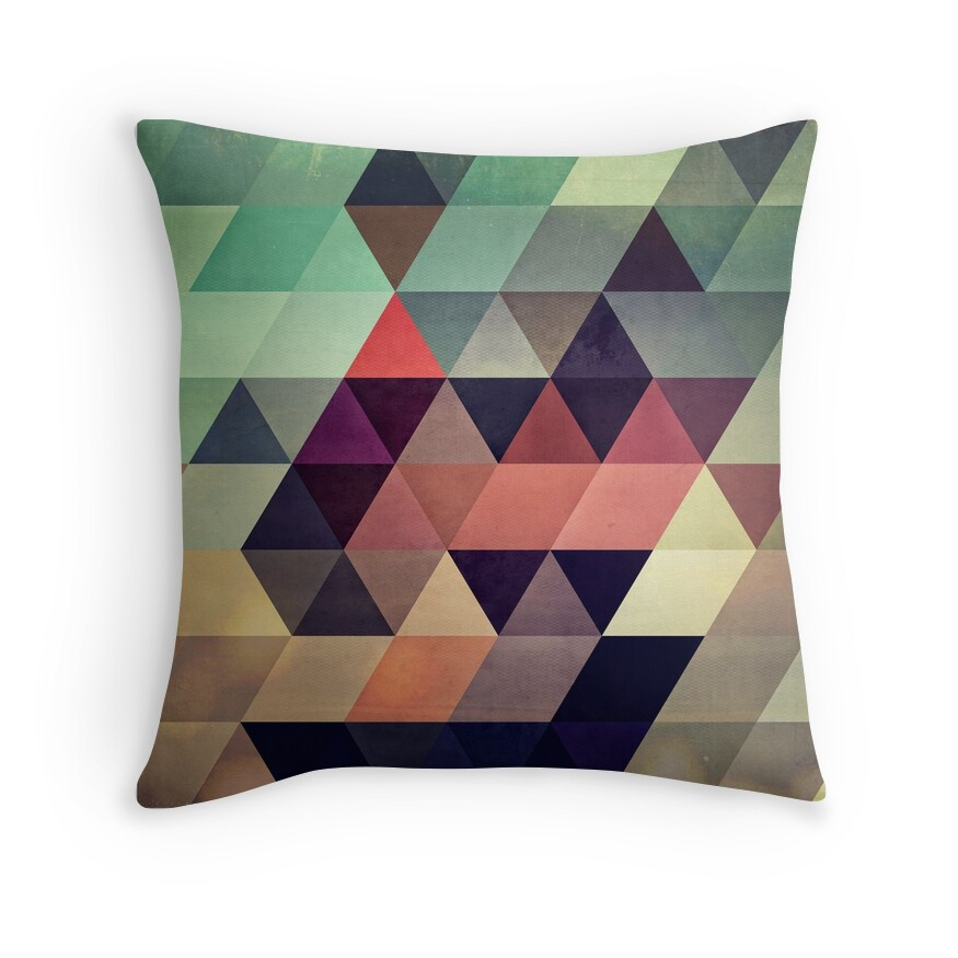 Modern Abstract Pillow : Modern Geometric Abstract Art: Throw Pillows Redbubble