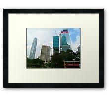 Hong Kong Skyscrapers Framed Print