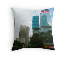 Hong Kong Skyscrapers Throw Pillow