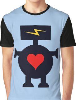 Cute Heart Robot Graphic T-Shirt