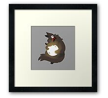Moon Hugs Framed Print