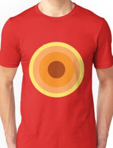 Concentric Circles - Yellow Unisex T-Shirt