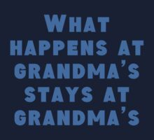 What Happens At Grandma's Kids Tee