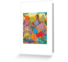 funny smiling dinosaurs Greeting Card