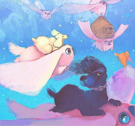 Three Dogs Flight by znuese