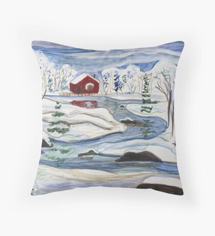 Red Mill Throw Pillow