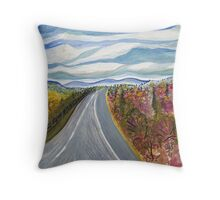 Road to Charlottesville Throw Pillow