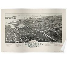 Panoramic Maps Bird's eye view of the village of Hyannis Barnstable County 1884 Mass 1884 Poster