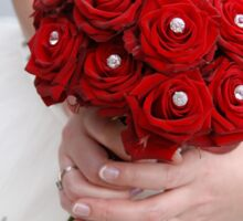 Bridal Bouquet ~ Red Roses  Sticker