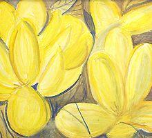 Yellow Flowers by lorikonkle