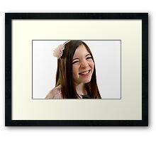 Ten year old girl Framed Print
