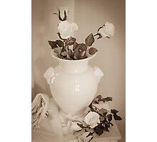 Antique Flower Vase Photographic Print