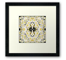 White Chrysanthemums - In the Mirror Framed Print