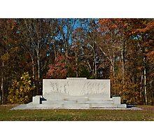 Gettysburg National Park - Arkansas Memorial Photographic Print