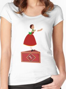 Girl on the music box Women's Fitted Scoop T-Shirt