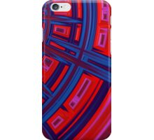 Abstract in Red and Blue iPhone Case/Skin