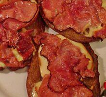 Potato pancakes with cheese and bacon ... Bon Appetit ! Sticker