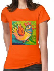Clucky morning Womens Fitted T-Shirt
