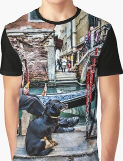 Gondolier in Venice Graphic T-Shirt