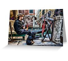 Gondolier in Venice Greeting Card