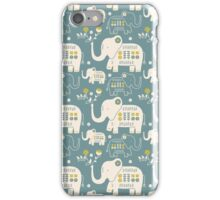 Elephants in Blue  iPhone Case/Skin