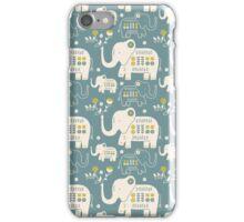 Elephants in Blue  iPhone Case/Skin