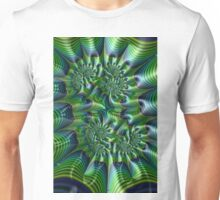 Abstract in Green and Blue Unisex T-Shirt