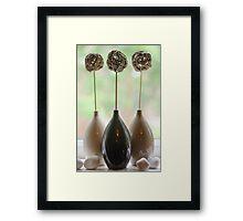 Triple Vase Framed Print