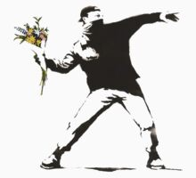 Banksy Flower Thrower by crawford93