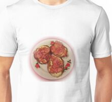 Potato pancakes with cheese and bacon ... Bon Appetit ! Unisex T-Shirt