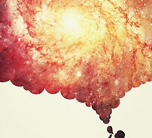 The universe in a soap-bubble! (Awesome Space / Nebula / Galaxy Negative Space Artwork) by badbugs