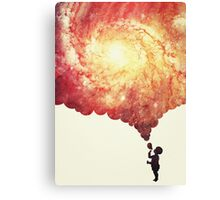 The universe in a soap-bubble! (Awesome Space / Nebula / Galaxy Negative Space Artwork) Canvas Print