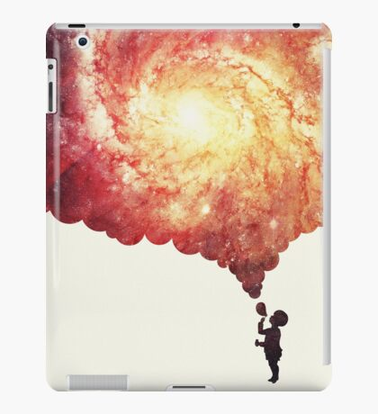 The universe in a soap-bubble! (Awesome Space / Nebula / Galaxy Negative Space Artwork) iPad Case/Skin