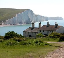 The Seven Sisters, Cuckmere Haven, Sussex, UK by Nina-Rosa
