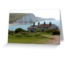 The Seven Sisters, Cuckmere Haven, Sussex, UK Greeting Card