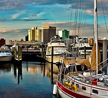 Portsmouth Harbor - Norfolk Skyline by Lightengr