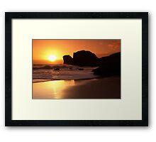 Target Rock Framed Print