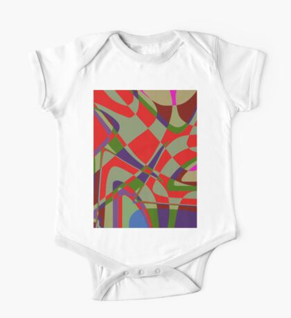 1039 Abstract Thought One Piece - Short Sleeve