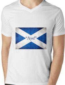 Scotland - AYE! Mens V-Neck T-Shirt