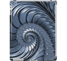 Cyan Scrolls Abstract iPad Case/Skin