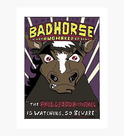 BAD HORSE Photographic Print