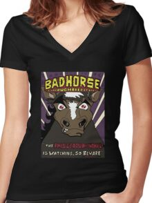 BAD HORSE Women's Fitted V-Neck T-Shirt