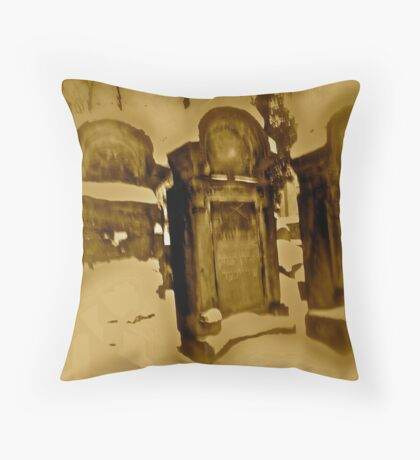 CRACOW - Jewish cemetery at Miodowa Street. Throw Pillow