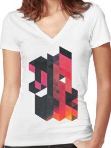 ylmyst tyme Women's Fitted V-Neck T-Shirt