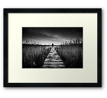 Frosty Pier Framed Print