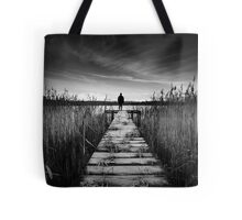 Frosty Pier Tote Bag