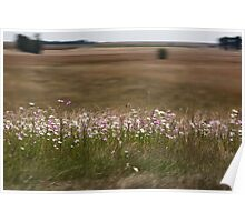 High Speed flowers Poster